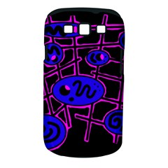 Blue and magenta abstraction Samsung Galaxy S III Classic Hardshell Case (PC+Silicone)