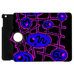 Blue and magenta abstraction Apple iPad Mini Flip 360 Case
