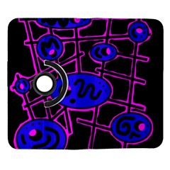 Blue and magenta abstraction Samsung Galaxy Note II Flip 360 Case