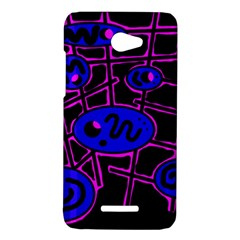 Blue and magenta abstraction HTC Butterfly X920E Hardshell Case