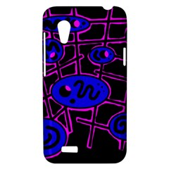 Blue and magenta abstraction HTC Desire VT (T328T) Hardshell Case