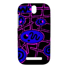 Blue and magenta abstraction HTC One SV Hardshell Case