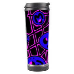 Blue and magenta abstraction Travel Tumbler