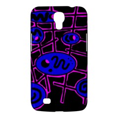 Blue and magenta abstraction Samsung Galaxy Mega 6.3  I9200 Hardshell Case