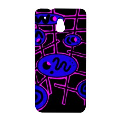 Blue and magenta abstraction HTC One Mini (601e) M4 Hardshell Case