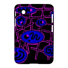 Blue and magenta abstraction Samsung Galaxy Tab 2 (7 ) P3100 Hardshell Case