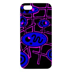 Blue and magenta abstraction iPhone 5S/ SE Premium Hardshell Case