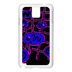 Blue and magenta abstraction Samsung Galaxy Note 3 N9005 Case (White)