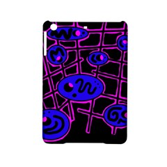Blue and magenta abstraction iPad Mini 2 Hardshell Cases