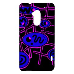 Blue and magenta abstraction HTC One Max (T6) Hardshell Case