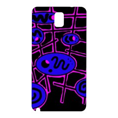Blue and magenta abstraction Samsung Galaxy Note 3 N9005 Hardshell Back Case