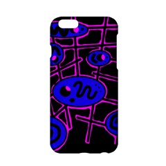 Blue and magenta abstraction Apple iPhone 6/6S Hardshell Case
