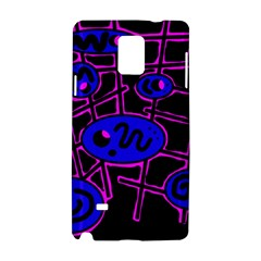 Blue and magenta abstraction Samsung Galaxy Note 4 Hardshell Case