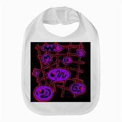 Purple and red abstraction Bib