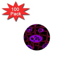 Purple and red abstraction 1  Mini Magnets (100 pack)
