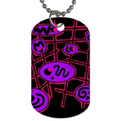 Purple and red abstraction Dog Tag (One Side)