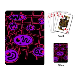 Purple and red abstraction Playing Card