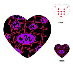 Purple and red abstraction Playing Cards (Heart)