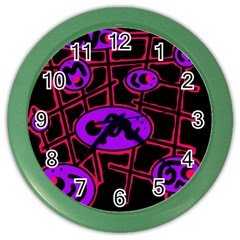 Purple and red abstraction Color Wall Clocks