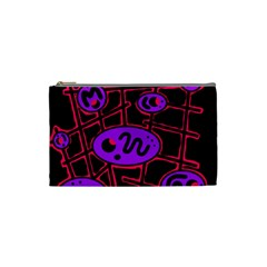 Purple and red abstraction Cosmetic Bag (Small)