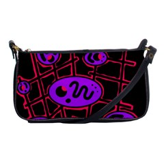 Purple and red abstraction Shoulder Clutch Bags