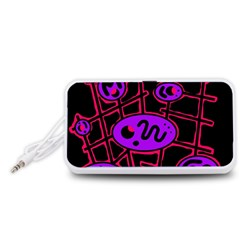 Purple and red abstraction Portable Speaker (White)