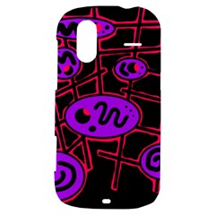 Purple and red abstraction HTC Amaze 4G Hardshell Case