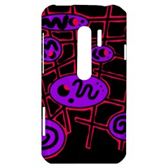 Purple and red abstraction HTC Evo 3D Hardshell Case