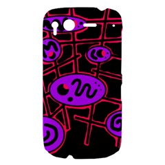 Purple and red abstraction HTC Desire S Hardshell Case