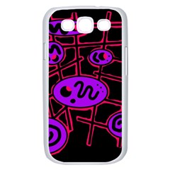 Purple and red abstraction Samsung Galaxy S III Case (White)
