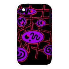 Purple and red abstraction Apple iPhone 3G/3GS Hardshell Case (PC+Silicone)