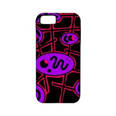 Purple and red abstraction Apple iPhone 5 Classic Hardshell Case (PC+Silicone)