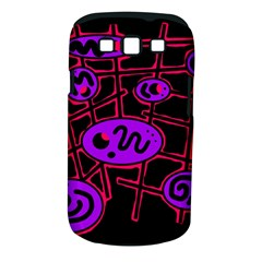 Purple and red abstraction Samsung Galaxy S III Classic Hardshell Case (PC+Silicone)