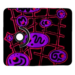 Purple and red abstraction Samsung Galaxy Note II Flip 360 Case