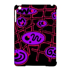 Purple and red abstraction Apple iPad Mini Hardshell Case (Compatible with Smart Cover)