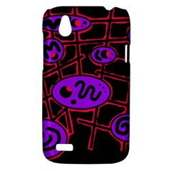 Purple and red abstraction HTC Desire V (T328W) Hardshell Case