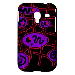 Purple and red abstraction Samsung Galaxy Ace Plus S7500 Hardshell Case