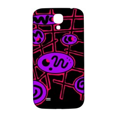 Purple and red abstraction Samsung Galaxy S4 I9500/I9505  Hardshell Back Case