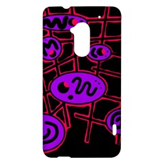 Purple and red abstraction HTC One Max (T6) Hardshell Case