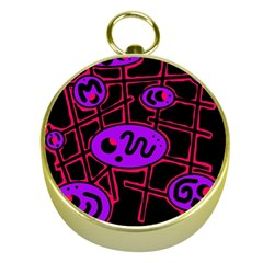 Purple and red abstraction Gold Compasses