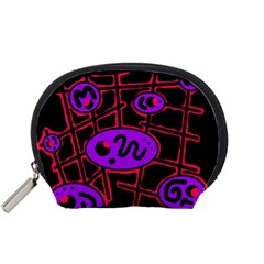 Purple and red abstraction Accessory Pouches (Small)