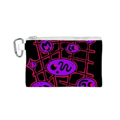 Purple and red abstraction Canvas Cosmetic Bag (S)