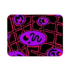 Purple and red abstraction Double Sided Flano Blanket (Mini)