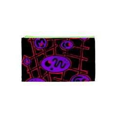 Purple and red abstraction Cosmetic Bag (XS)