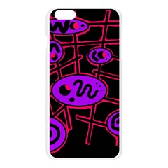 Purple and red abstraction Apple Seamless iPhone 6 Plus/6S Plus Case (Transparent)