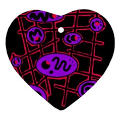 Purple and red abstraction Ornament (Heart)