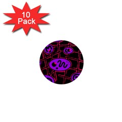 Purple and red abstraction 1  Mini Magnet (10 pack)