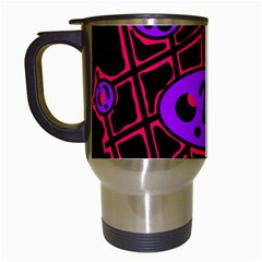 Purple and red abstraction Travel Mugs (White)