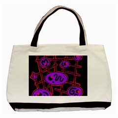 Purple and red abstraction Basic Tote Bag