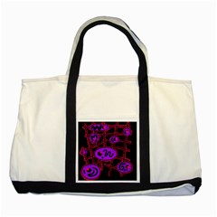 Purple and red abstraction Two Tone Tote Bag